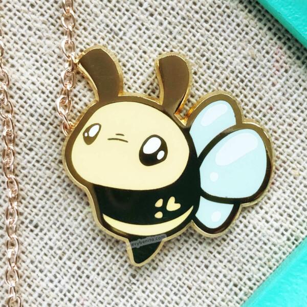 Kawaii bumblebee hard enamel pin by Evy Benita