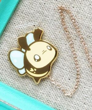 Chibi bumblebee hard enamel pin by Evy Benita
