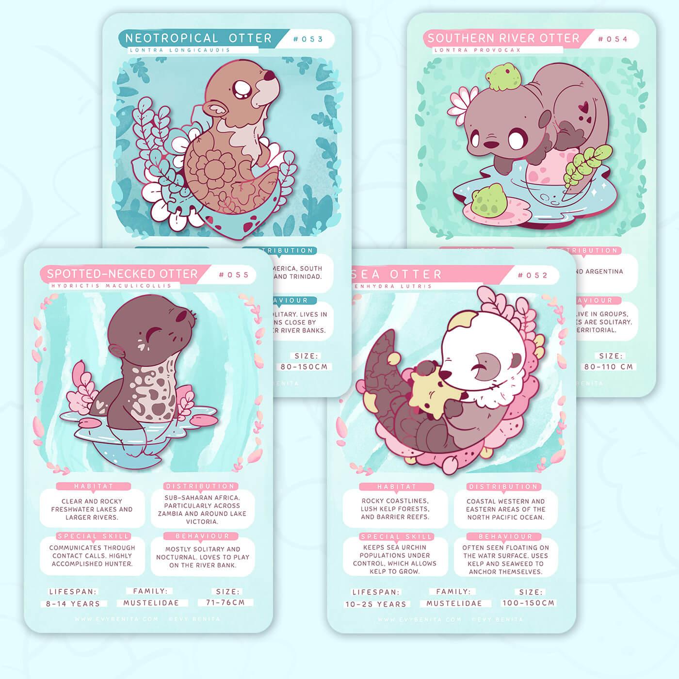 April Pin Club Theme: Otter Species