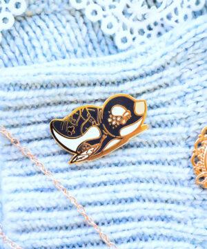 A cute kawaii Gentoo penguin enamel pin by Evy Benita