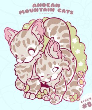Andean Mountain Cat Enamel Pin by Evy Benita