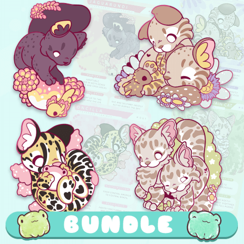 Monthly enamel pin club: receive four cute animal pins every month!
