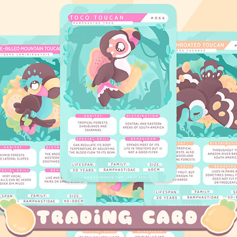 """Text reads """"Trading Card"""""""