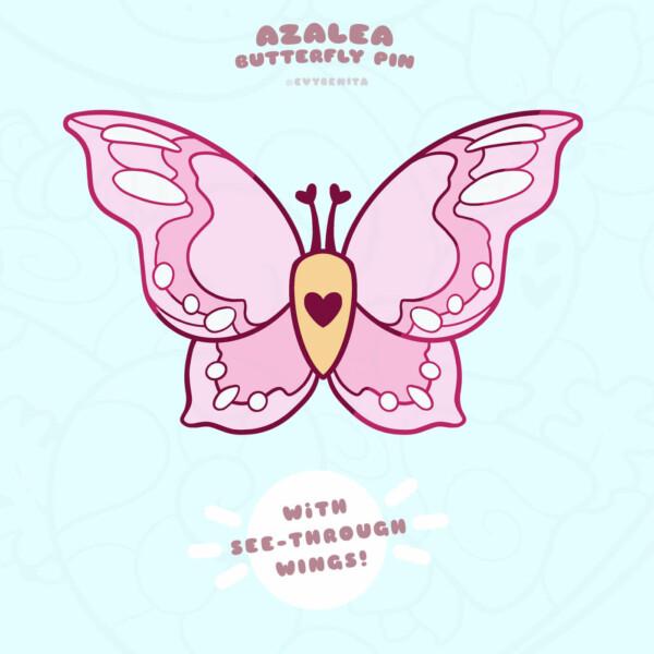 Azalea stained glass moth enamel pin (pre-order)