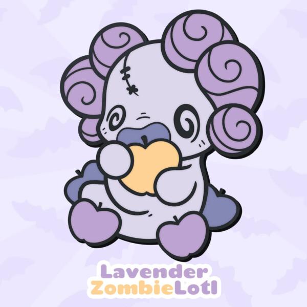 Lavender ZombieLotl: a purple zombie-inspired Lotl