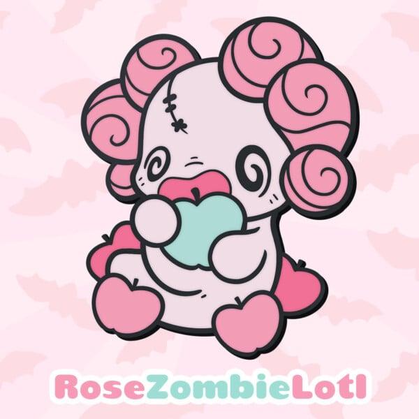 Rose ZombieLotl: a pink zombie-inspired Lotl